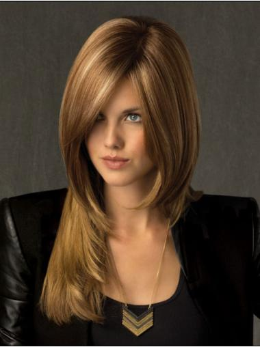 Shining Blonde Lace Front Long Celebrity Wigs