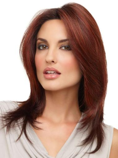 Lace Front Elegant Straight Synthetic Medium Wigs