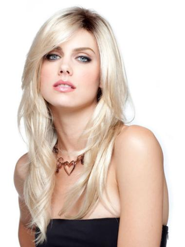Blonde Lace Front Synthetic Braw Long Wigs