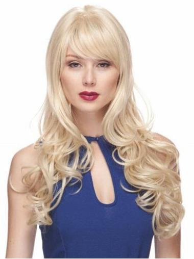 Blonde Wavy Synthetic Exquisite Long Wigs