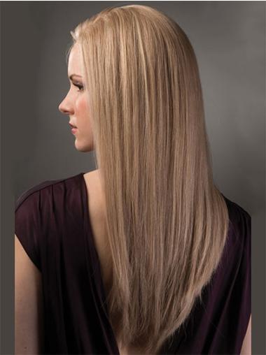Suitable Blonde Lace Front Long Remy Human Lace Wigs