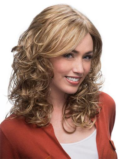 Blonde Wavy Synthetic Gorgeous Medium Wigs