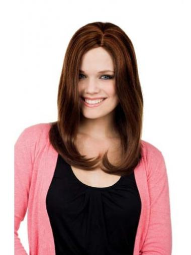 Faddish Auburn Lace Front Synthetic Long Wigs
