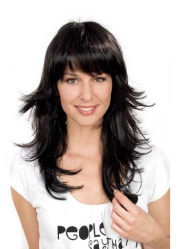 Fashionable Black Straight Synthetic Long Wigs