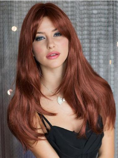 Incredible Auburn Straight Synthetic Long Wigs