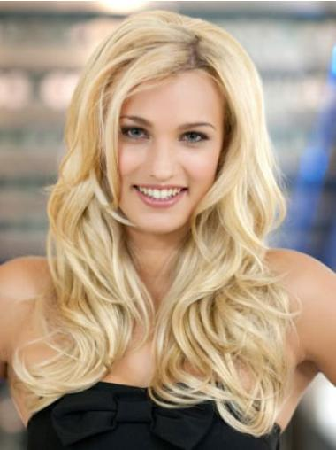 Blonde Wavy Synthetic Sleek Long Wigs
