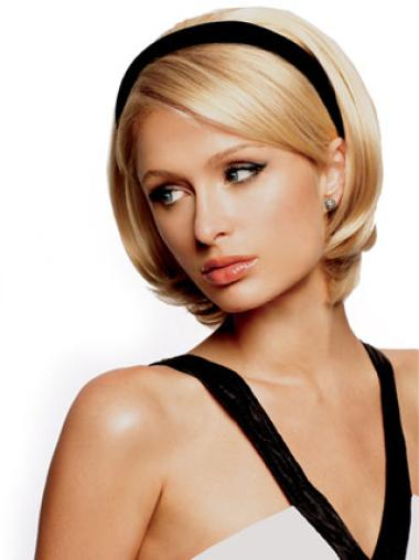 Hairstyles Blonde Straight Short Human Hair Wigs & Half Wigs