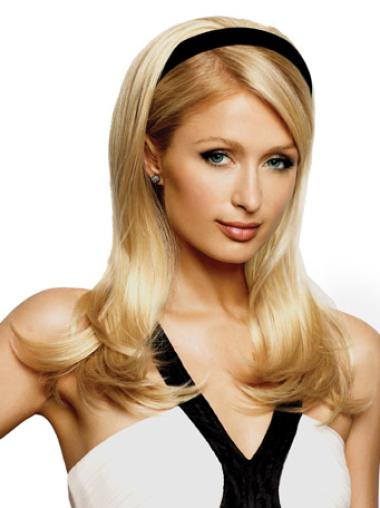 Fabulous Blonde Straight Long Human Hair Wigs & Half Wigs