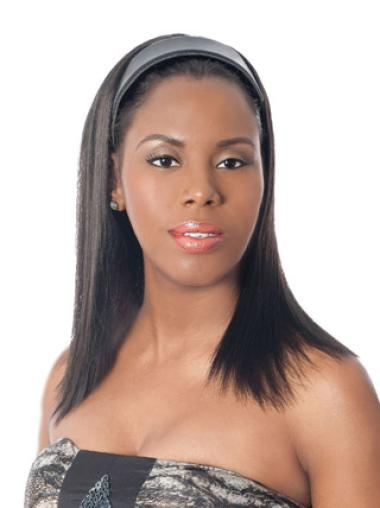Amazing Black Straight Long Human Hair Wigs & Half Wigs