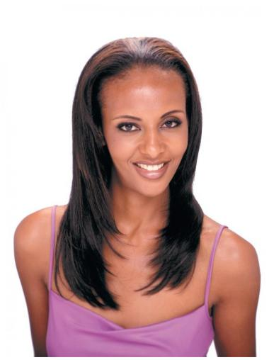 Preferential Brown Straight Long Human Hair Wigs & Half Wigs