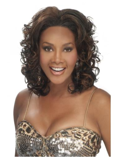 Lace Front Curly Synthetic Popular Medium Wigs