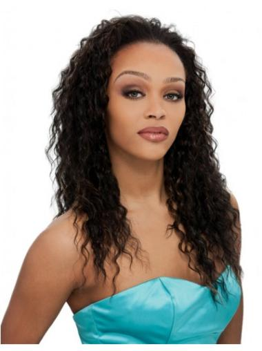 Suitable Brown Curly Long Human Hair Wigs & Half Wigs