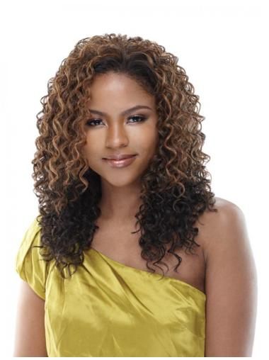 Gentle Brown Curly Long Human Hair Wigs & Half Wigs