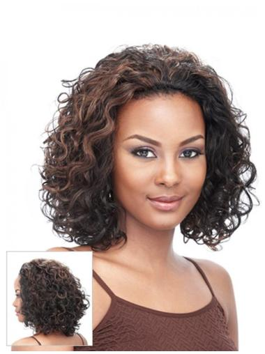 Sassy Brown Curly Chin Length Synthetic Wigs & Half Wigs