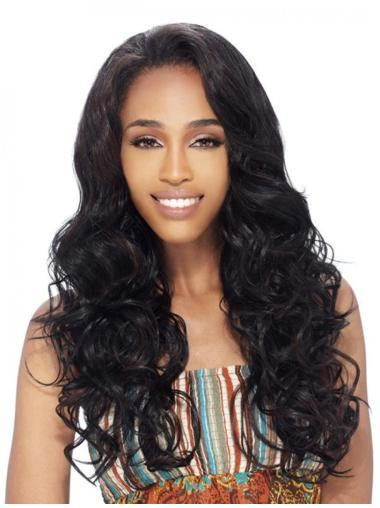 Exquisite Brown Wavy Long Human Hair Wigs   Half Wigs d5a013c5fd9b