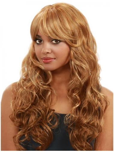 Designed Blonde Curly Long Human Hair Wigs & Half Wigs