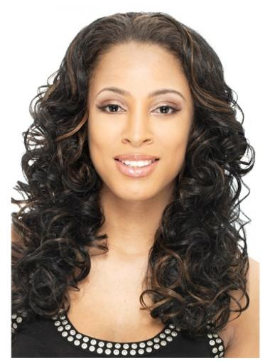 Impressive Brown Curly Long Human Hair Wigs & Half Wigs