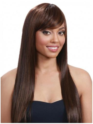 Refined Auburn Straight Long Human Hair Wigs & Half Wigs