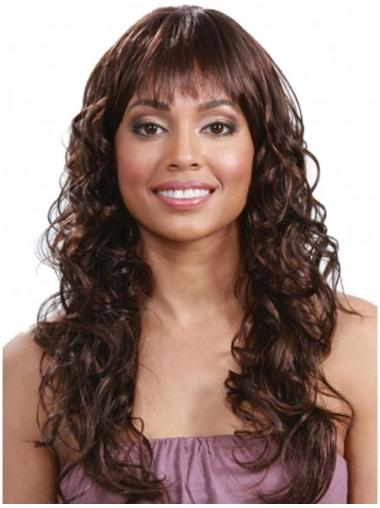 Stylish Auburn Curly Long Human Hair Wigs & Half Wigs