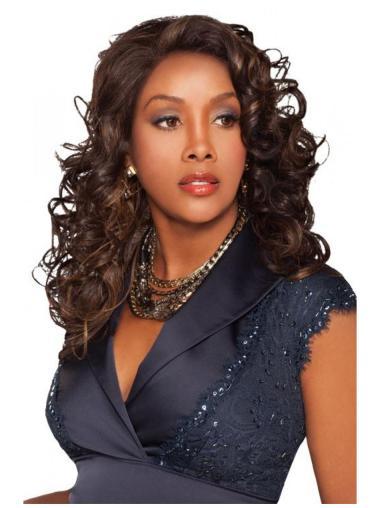 Stylish Brown Curly Long Human Hair Wigs & Half Wigs