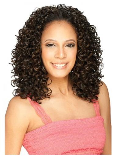 Suitable Brown Curly Shoulder Length Human Hair Wigs & Half Wigs