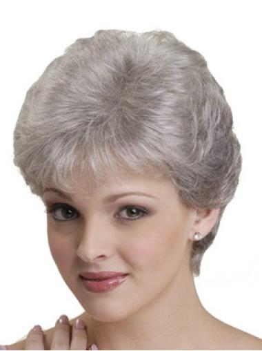 High Quality White Straight Short Classic Wigs