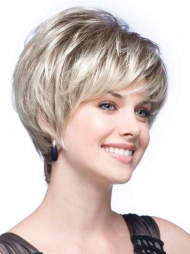 Exquisite Wavy Short Synthetic Grey Wigs