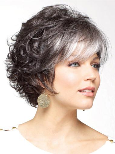 Hairstyles White Curly Short Classic Wigs