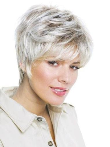 Modern Wavy Short Synthetic Grey Wigs