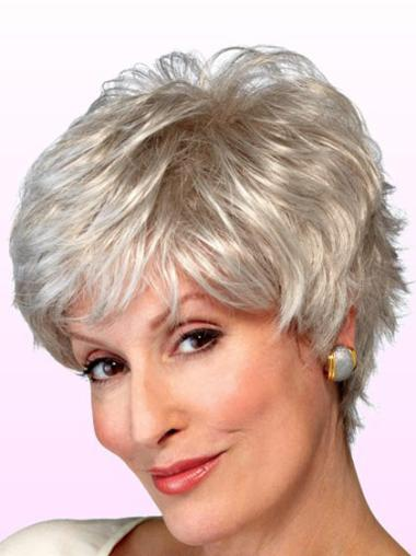 Incredible White Wavy Short Classic Wigs