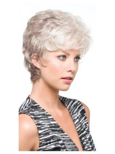 Good Wavy Short Synthetic Grey Wigs
