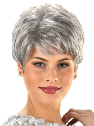 Hairstyles Wavy Short Synthetic Grey Wigs