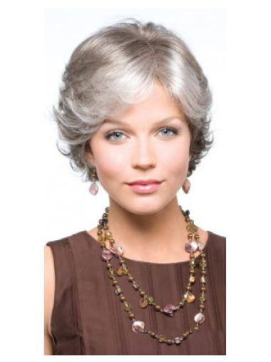 Incredible Wavy Short Synthetic Grey Wigs