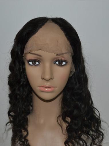 Top Black Curly Long U Part Wigs