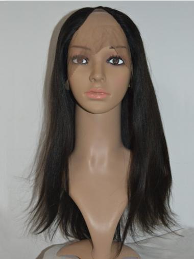 Refined Black Lace Front Long U Part Wigs