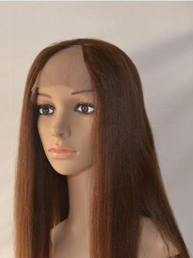 No-fuss Auburn Lace Front Long U Part Wigs