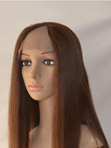 No-fuss Auburn Lace Front Long U Part Wigs