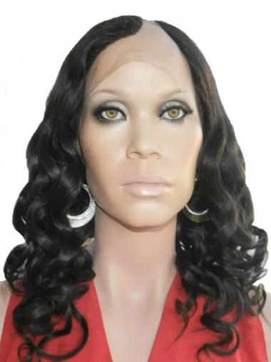 Sassy Black Curly Long U Part Wigs