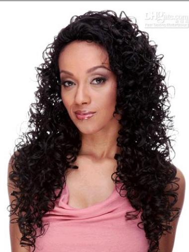 Pleasing Lace Front Curly Long U Part Wigs
