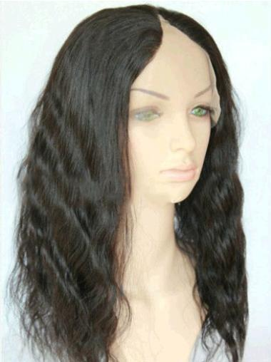 Easeful Black Wavy Long U Part Wigs