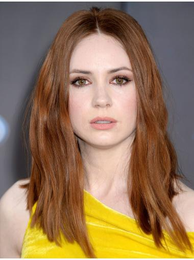 Beautiful Without Bangs Blonde Shoulder Length Karen Gillan Wigs