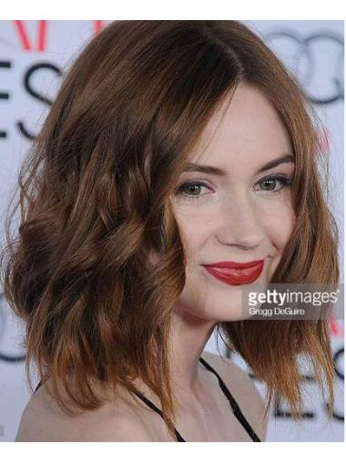 Flexibility Without Bangs Brown Chin Length Karen Gillan Wigs