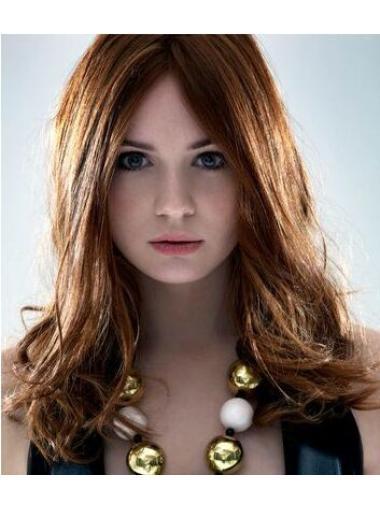 Fabulous Layered Brown Shoulder Length Karen Gillan Wigs