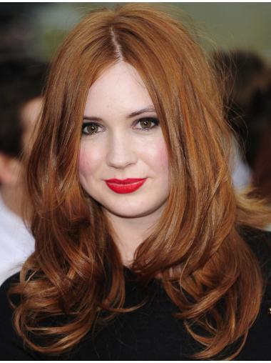 "16"" Full Lace Layered Copper Soft Karen Gillan Wigs"