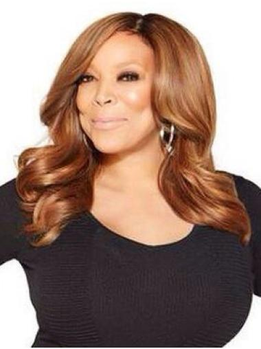 "Wavy 16"" Lace Front Auburn Wendy Williams Wigs"