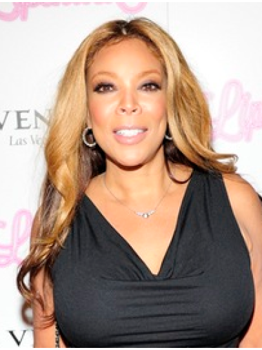 Wavy Without Bangs Capless Blonde Wendy Williams Hair