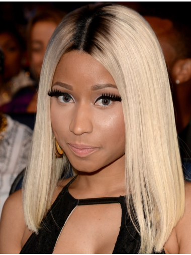 """14"""" Straight Platinum Blonde Without Bangs Nicki Minaj Wigs"""