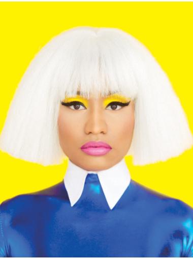 """10"""" Straight White Bobs Nicki Minaj Wigs"""