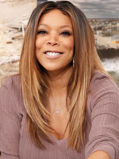Straight 20 Inch Wendy Williams Inspired Celebrity Two Tone Wigs