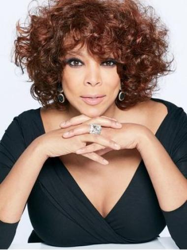 Wendy Williams Auburn Curly Wigs Short With Bangs African